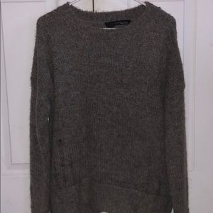 Cashmere distressed sweater